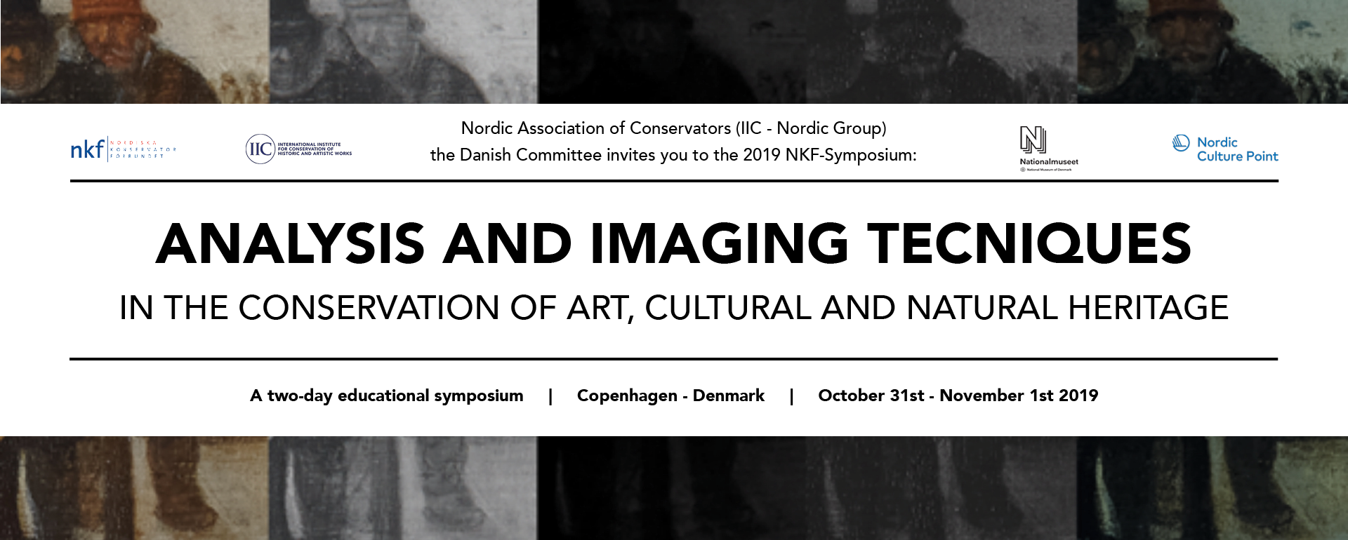 NKF Symposium 2019: Analysis and imaging techniques in the conservation of art, cultural and natural heritage